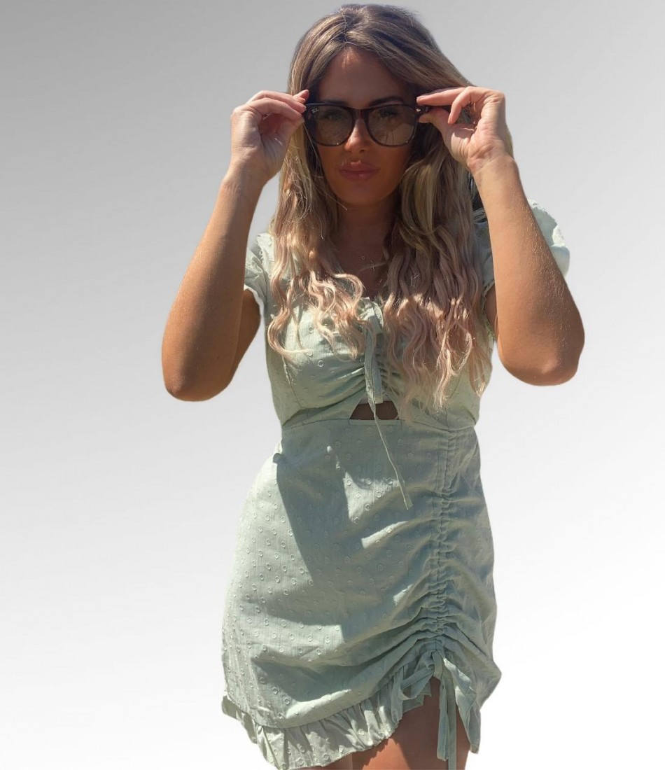 JADE DRESS IN MINT GREEN